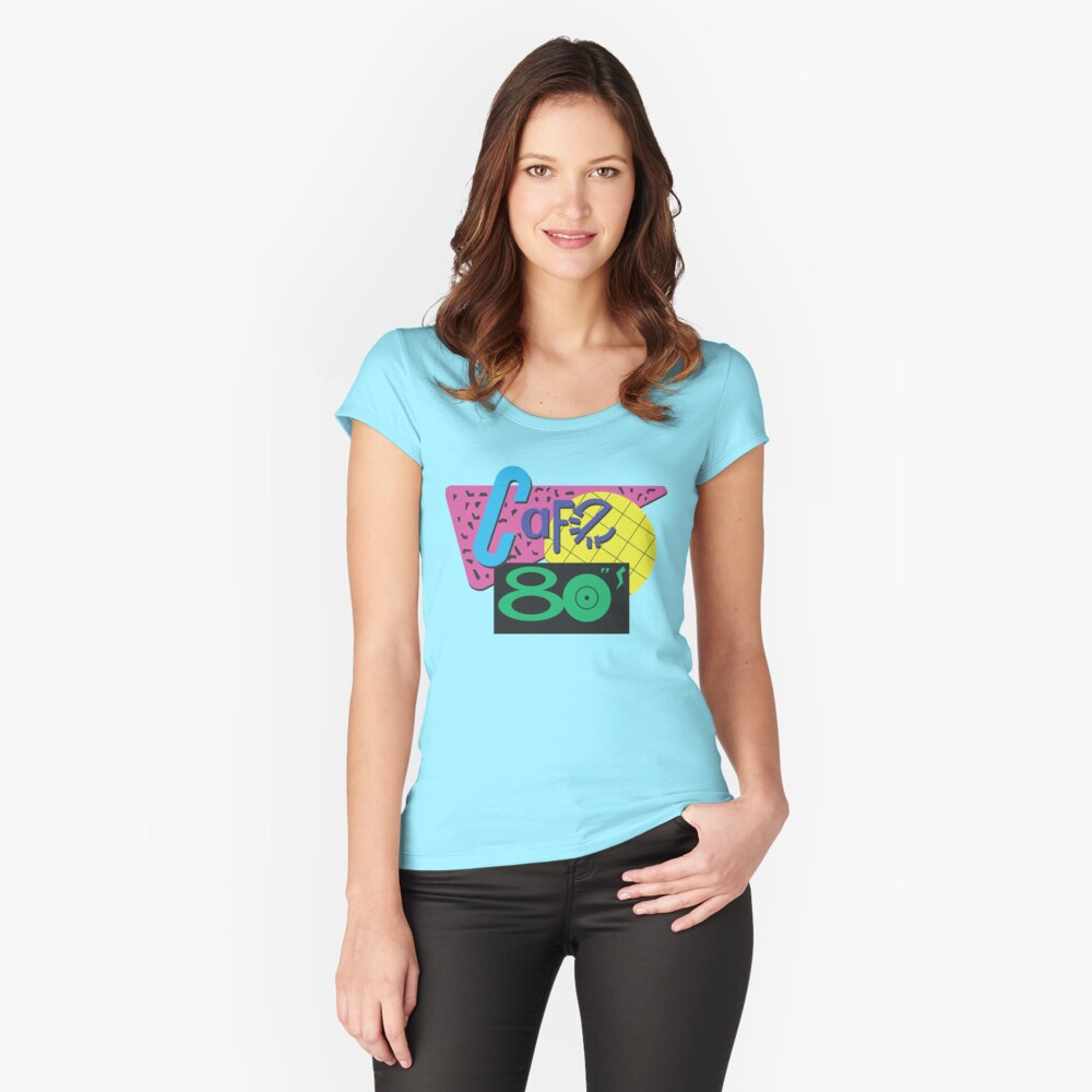 Cafe 80s Scoop Neck T-shirt for Ladies - XS to XL