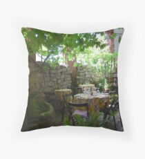 "Private dining at ""The Ruins"" Throw Pillow"