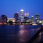 By The River Thames & Canary Wharf by Adam Adami