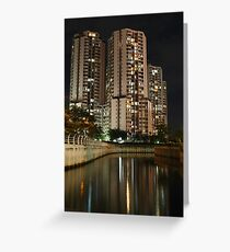 Apartemen Taman Rasuna (by night) Greeting Card