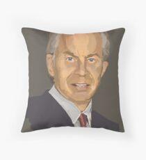 Tony Blair Throw Pillow