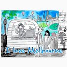 I love Melbourne by caratoons