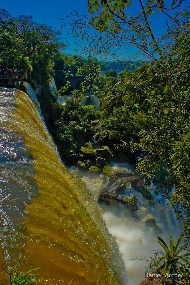 Looking down On Iguassu by Daniel  Archer