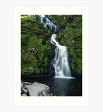 The Assarnacally Waterfall Art Print