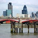 London's Skyline Along The Thames by Orla Cahill Photography