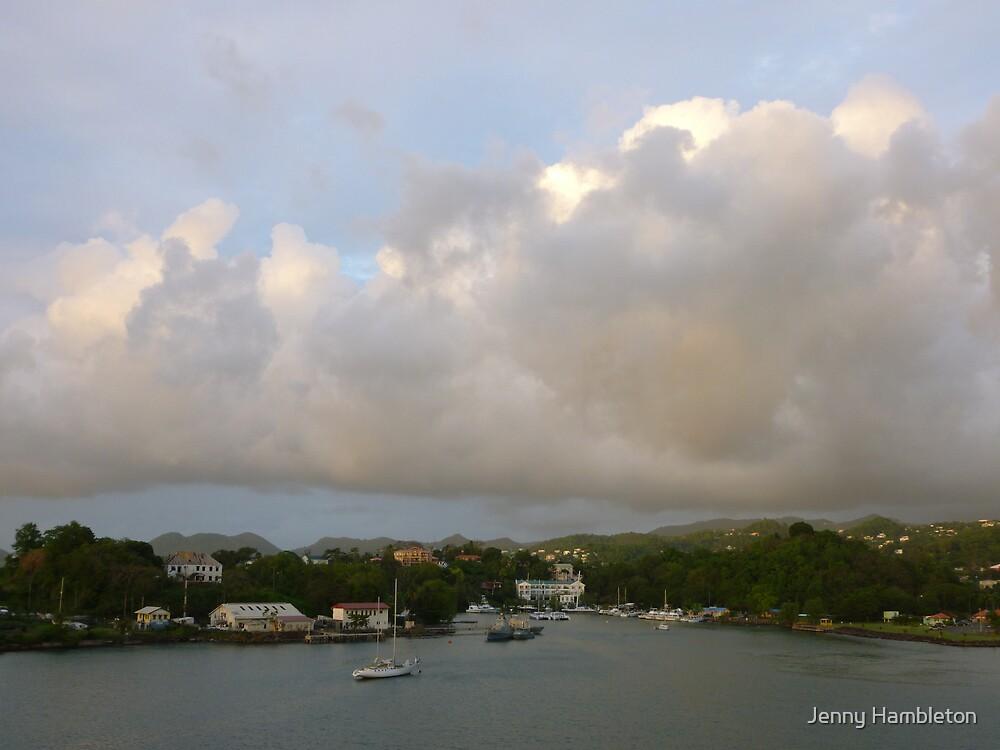 Pink Clouds- St. Lucia by Jenny Hambleton