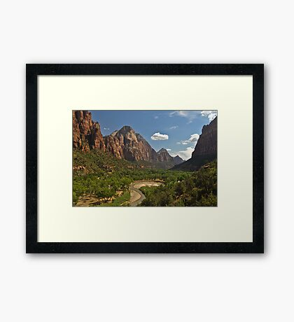 Virgin River canyon, Zion Framed Print