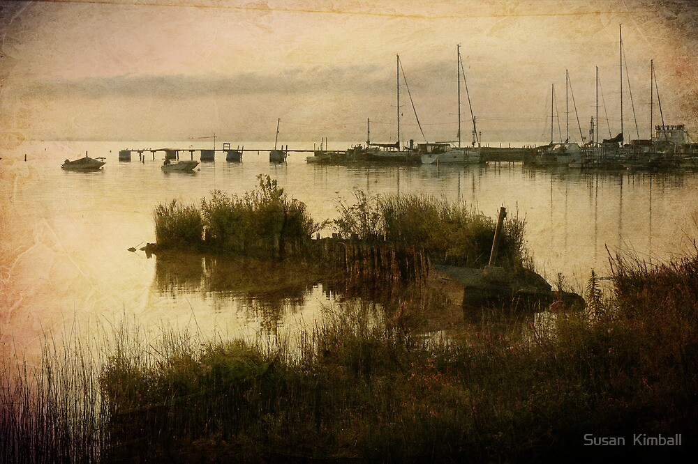 The Old Wooden Pier by Susan  Kimball