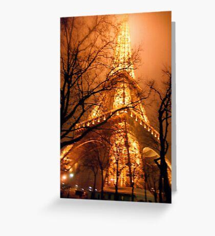 Misty Eiffel Tower, Paris  Greeting Card