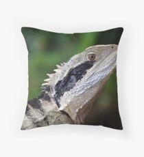 Wild Eastern Water Dragon Throw Pillow