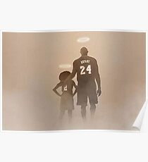 Kobe & Gianna Bryant RIP photo homage 2020 Poster