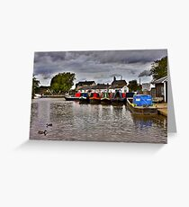 Norbury Junction, Shropshire Union Canal. Greeting Card