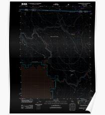 USGS Topo Map California Sagebrush Butte 20120314 TM Inverted Poster