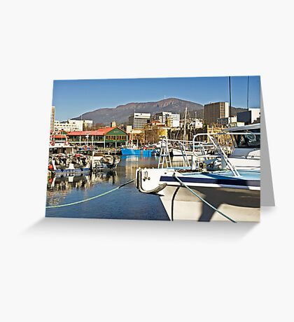 Victoria Dock on a Sunlit Spring Morning Greeting Card