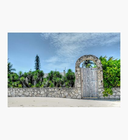 The Beach Gate on Paradise Island in Nassau, The Bahamas Photographic Print