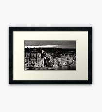 Prague monochrome Framed Print