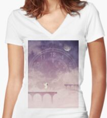 Time Portal Women's Fitted V-Neck T-Shirt