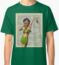 Vintage Girl with a starfish,60',70',Sunbathing,Summer,Holidays,Dictionary Art Classic T-Shirt