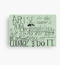 Arise! Do it! Canvas Print