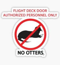 No Otters Sticker