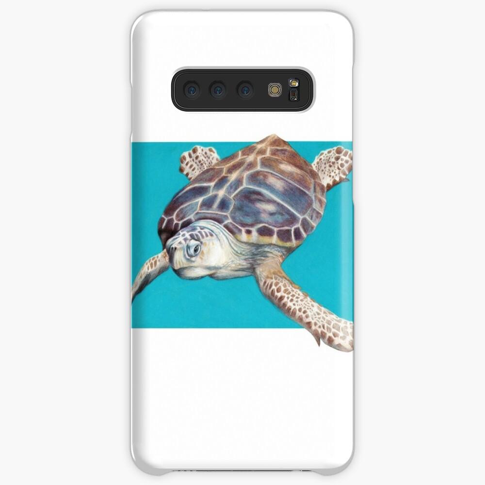Loggerhead Sea Turtle Art by Artist Sherrie Spencer Case & Skin for Samsung Galaxy