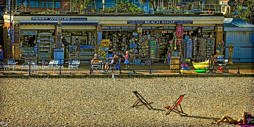 Eating Periwinkles In Eastbourne by Chris Lord