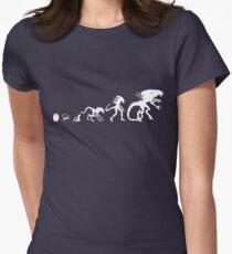 Alien Evolution Women's Fitted T-Shirt