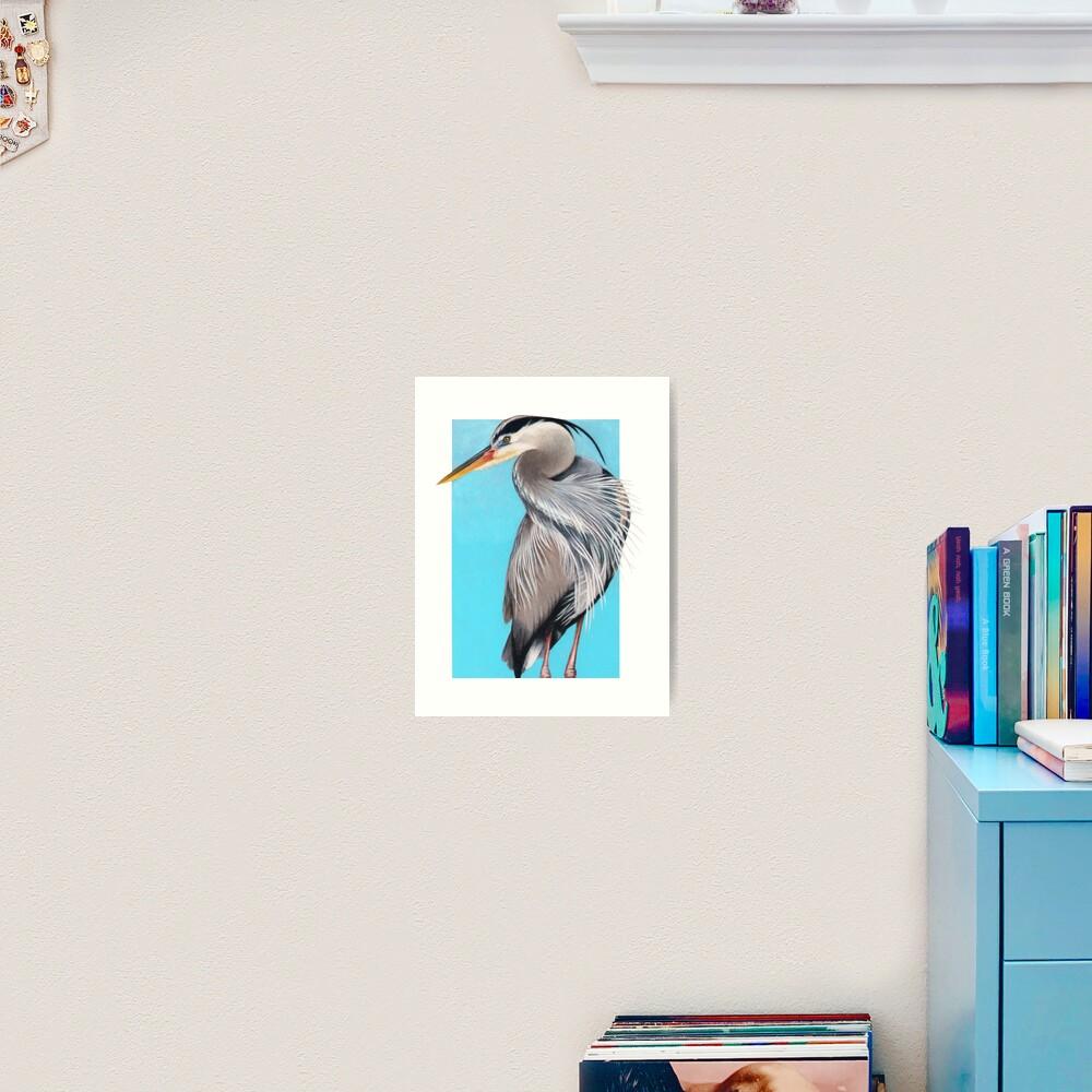 Great Blue Heron art by Wildlife Artist Sherrie Spencer Art Print