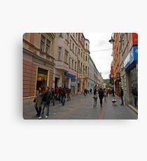 City life in Sarajevo Canvas Print