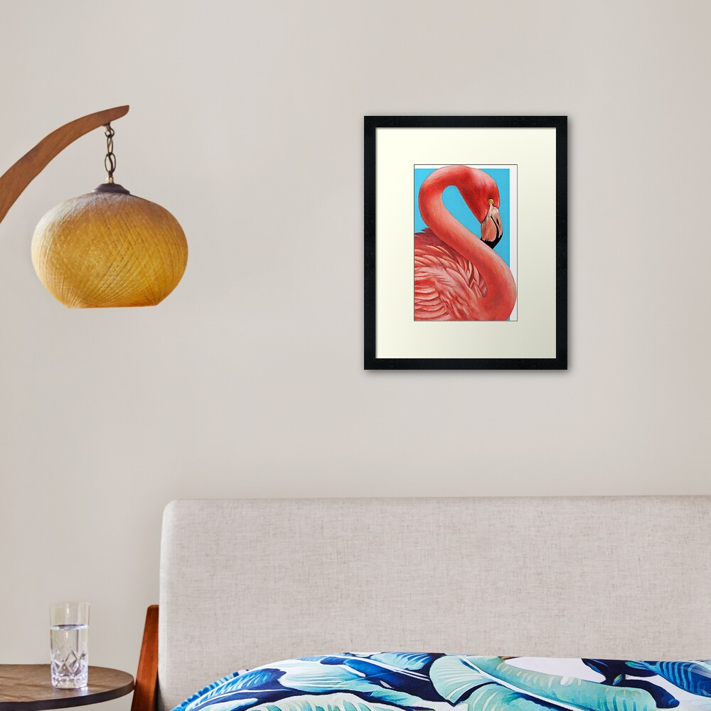 Flamingo art by Wildlife Artist Sherrie Spencer Framed Art Print