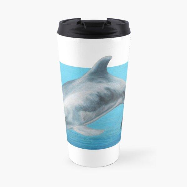 Dolphin art by Wildlife Artist Sherrie Spencer Travel Mug