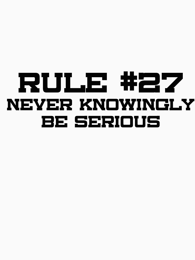 Rule #27 by consulttimelord