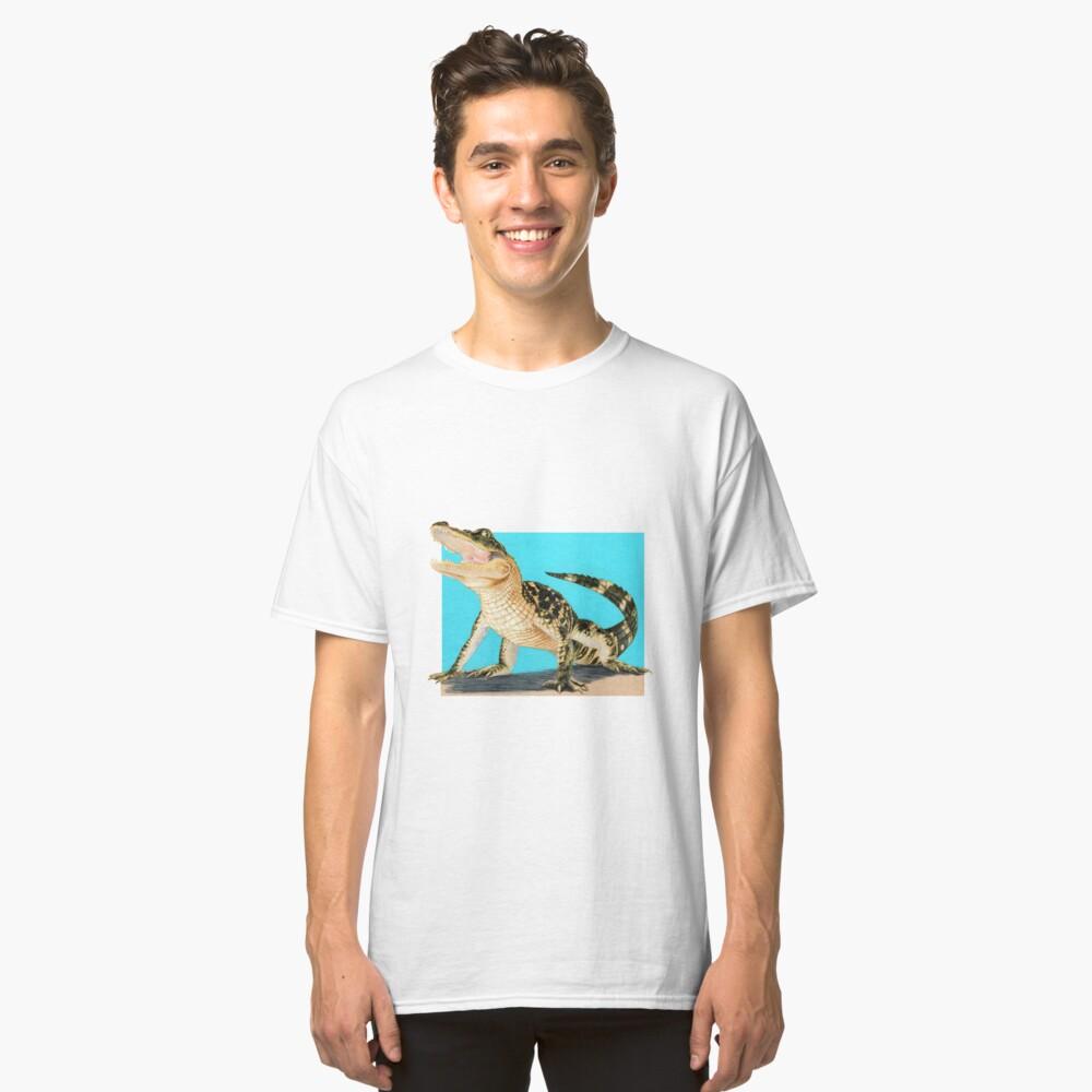 Baby Alligator Smiling! art by Wildlife Artist Sherrie Spencer Classic T-Shirt