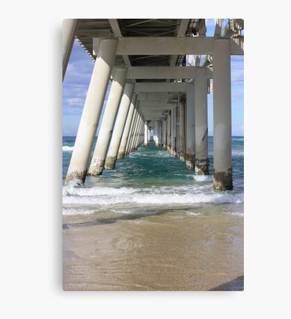 Under the Sand Pumping Jetty Canvas Print