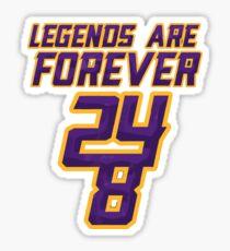 Kobe Bryant 24 Legends forever Sticker