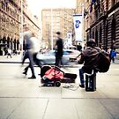 The busker by Trish O'Brien