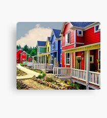 Crayon Community Canvas Print