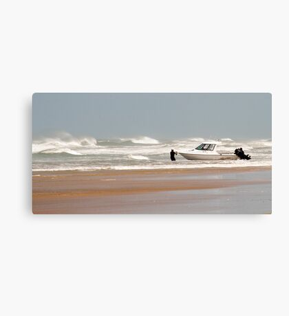 Gone Fishing - Baylys Beach boaties Canvas Print