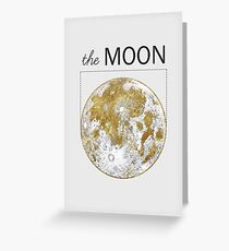 Golden Moon Greeting Card