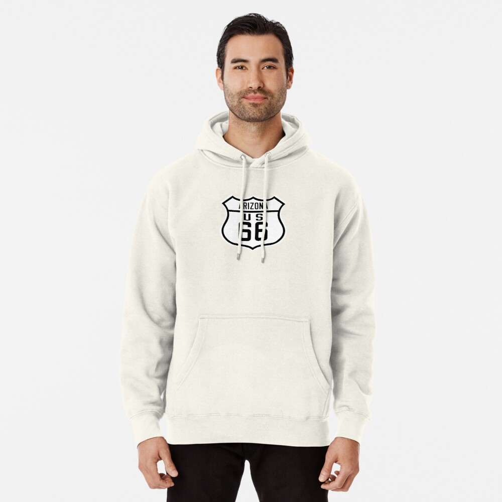 Route 66 Arizona Road Sign Pullover Hoodie