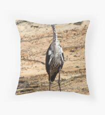 Pacific Heron, Juvenile. (White Necked Heron) Throw Pillow