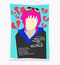 Scott Pilgrim Verses The World - Saul Bass Inspired Poster (Untextured) Photographic Print