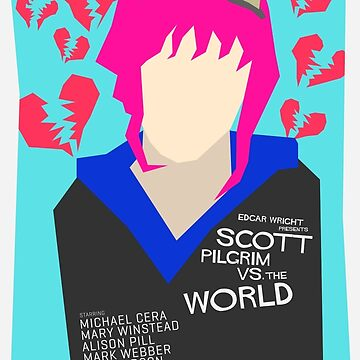 Scott Pilgrim Verses The World - Saul Bass Inspired Poster (Untextured) by lexxclark