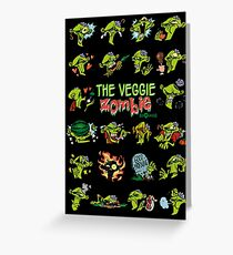 The Veggie Zombie Greeting Card