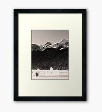 Lovers Stroll from an Ice Castle Framed Print