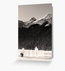 Lovers Stroll from an Ice Castle Greeting Card