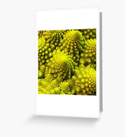 Fibbonaci Pattern in Romanesco brocolli Greeting Card