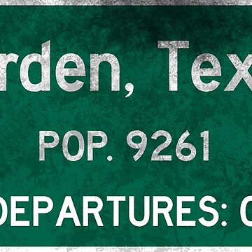 Jarden, Texas Road Sign by kosmonaut