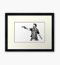 Rick Grimes Walking Dead  Framed Print