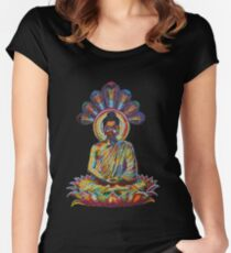 buddha - 2011 as tshirt Women's Fitted Scoop T-Shirt